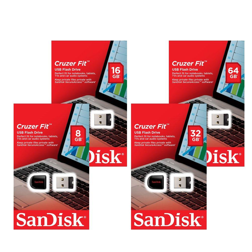 Sandisk 8/16/32/64GB GB Cruzer Fit CZ33 USB 2.0 Flash Stick Pen Drive