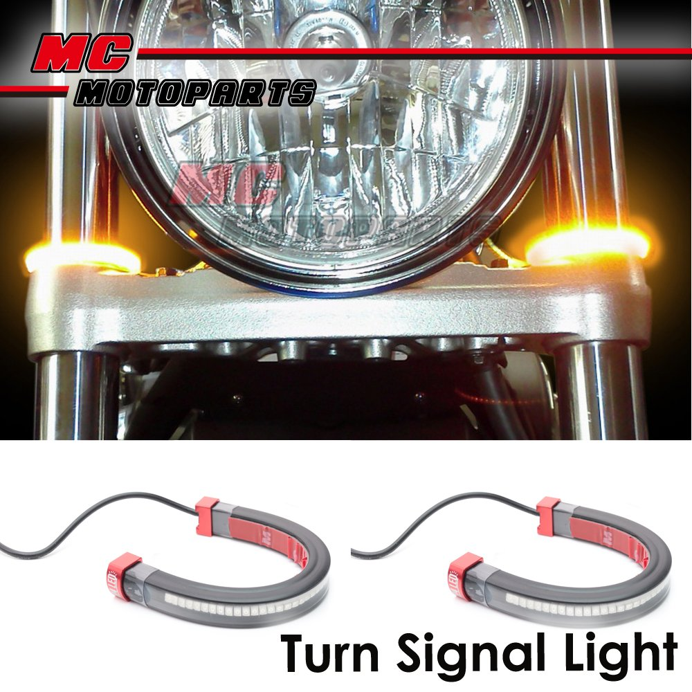 Front-Fork-LED-Turn-Signals-Lights-Winker-For-Honda-CBR500R-CB500-2013-2015